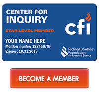 member card with orange button