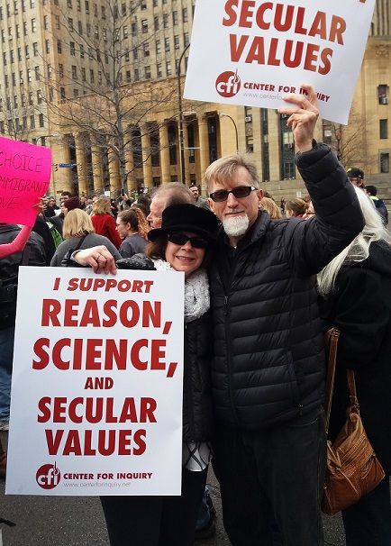 Rick and Bonnie at the Women's March