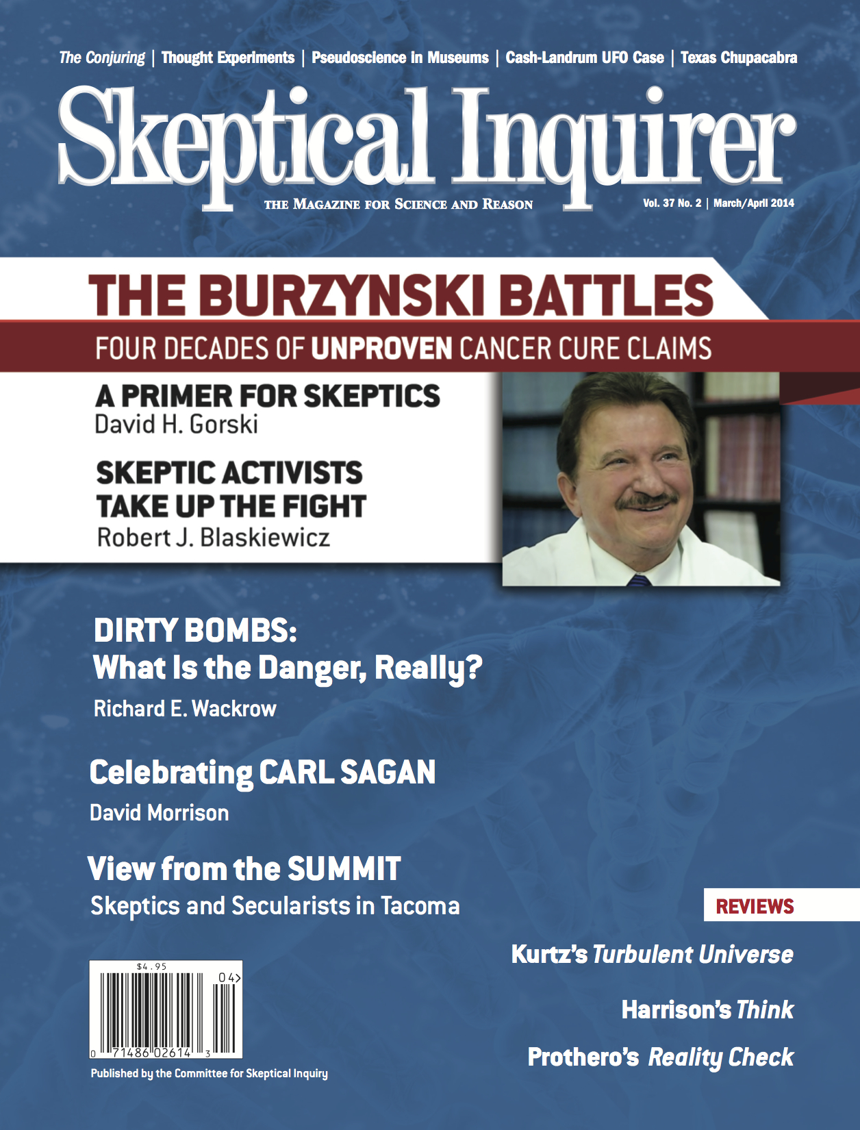 Skeptical Inquirer: The Burzynski Battles (Cover)