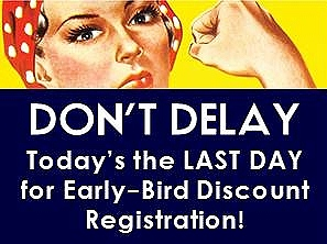 Last day for discount registration!