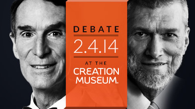 Bill Nye Ken Ham debate graphic