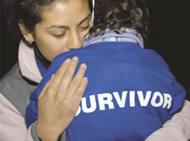 light the night survivor hug
